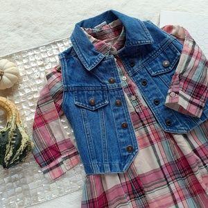 GAP Girl's Toddler Fall Plaid Popover Dress 3T